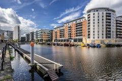 利兹船坞在市利兹 免版税图库摄影