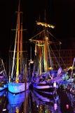 利古里亚海节日在卡莫利 免版税库存照片