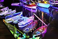 利古里亚海节日在卡莫利 库存图片