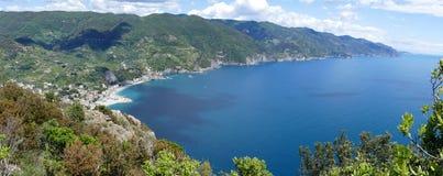 利古里亚,五乡地的海岸在意大利 库存照片