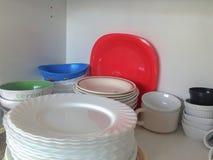 利器碗柜 库存照片