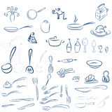 利器,餐具 向量例证