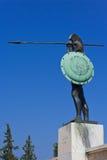 利奥尼达斯・斯巴达雕象 库存图片