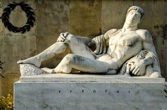 从利奥尼达斯的纪念碑的Eurotas国王, Thermopylae 图库摄影