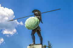 利奥尼达斯雕象 免版税库存图片