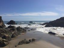 利奥Carillo国家海滩-马利布,加州 免版税库存照片