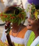 玻利尼西亚妇女 库存图片