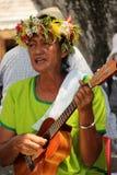 玻利尼西亚妇女 免版税图库摄影