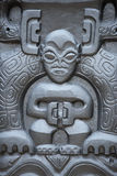 玻利尼西亚石雕象 免版税库存照片