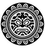 玻利尼西亚纹身花刺 库存照片