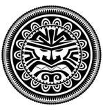 玻利尼西亚纹身花刺 库存图片