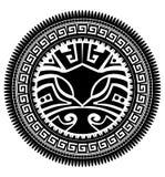 玻利尼西亚纹身花刺 免版税库存照片