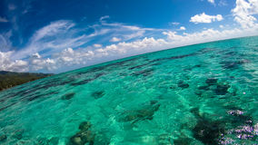 玻利尼西亚overwater - Moorea 图库摄影