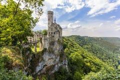 利希滕斯泰因城堡,德国 库存照片