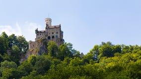 利希滕斯泰因施洛斯-德国哥特式复兴城堡 免版税库存图片