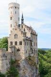 利希滕斯泰因城堡在德国 免版税图库摄影