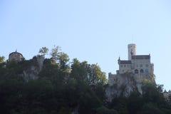 利希滕斯泰因城堡风景 库存照片