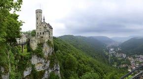 利希滕斯泰因城堡 图库摄影