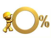 利息百分比费率零 免版税库存照片