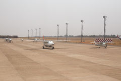 利文斯东- 2013年10月14日:地方飞机经常是唯一的m 图库摄影