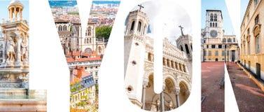 利昂信件用图片填装了从利昂市 图库摄影