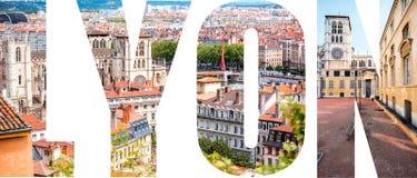 利昂信件用图片填装了从利昂市 免版税库存照片