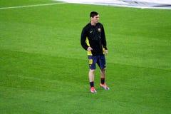 利昂内尔・梅西,足球超级明星,巴塞罗那足球俱乐部,阿根廷 免版税库存照片