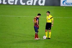 利昂内尔・梅西,足球超级明星,巴塞罗那足球俱乐部,阿根廷 免版税图库摄影