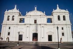 利昂大教堂在尼加拉瓜 免版税库存图片
