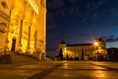 利昂大教堂的前面在法国 免版税图库摄影