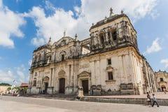 利昂大教堂 库存图片