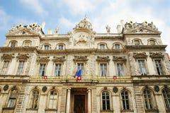利昂法国城镇厅  库存照片