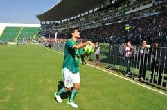 拉斐尔Marquez正式地被提出作为俱乐部利昂的新的球员 库存照片