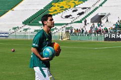 拉斐尔Marquez正式地被提出作为俱乐部利昂的新的球员 免版税库存照片