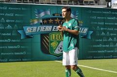 拉斐尔Marquez正式地被提出作为俱乐部利昂的新的球员 免版税库存图片