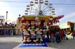 利昂,墨西哥1月13日2017年:狂欢节比赛 图库摄影