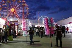 利昂,墨西哥1月13日2017年:狂欢节比赛 免版税库存图片