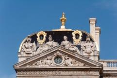 利昂,法国- 5月19 :香港大会堂屋顶在地方des Terreaux的 联合国科教文组织世界遗产名录 图库摄影