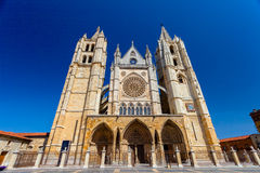 利昂,西班牙大教堂  库存照片