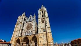 利昂,西班牙大教堂 库存图片