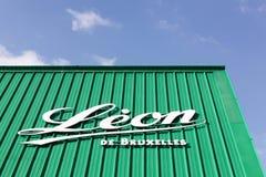 利昂de布鲁塞尔餐馆 库存照片
