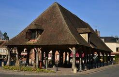 利昂la Foret,法国-行军15 2016年:美丽如画的村庄 免版税库存照片