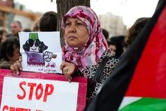 利比亚巴勒斯坦团结 库存照片