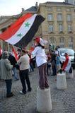 利比亚演示在巴黎 免版税库存图片