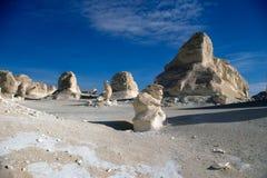 利比亚白色埃及沙漠 库存照片