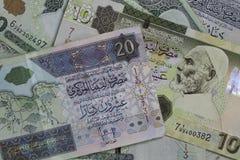 利比亚金钱 免版税库存照片