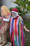 利比亚面具节日在里斯本,葡萄牙 免版税库存图片