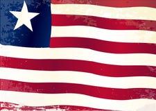 利比里亚旗子难看的东西 库存照片