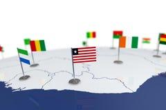 利比里亚旗子 库存图片