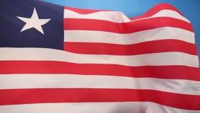 利比里亚的旗子-便利标志 向量例证